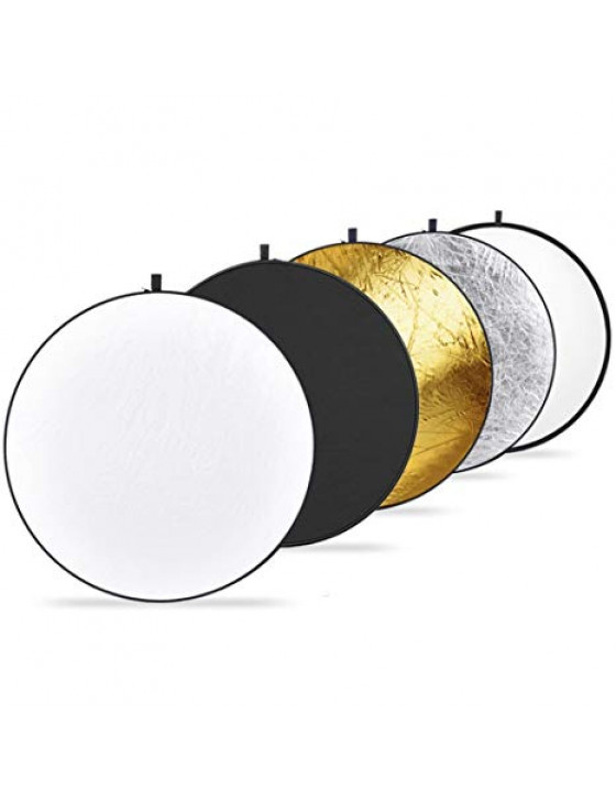 "Collapsible 5-in-1 reflector (42"" round)"