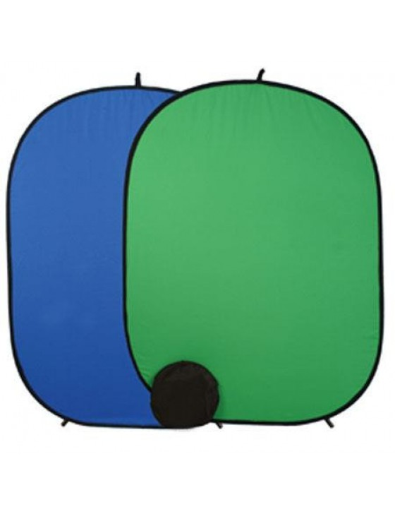 Flashpoint Collapsible Backdrop - Chroma Green/Blue