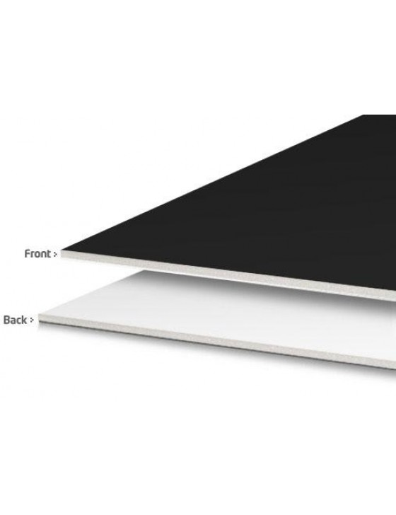 "Foamcore - Black & White - 4' x 4' x 3/16"""