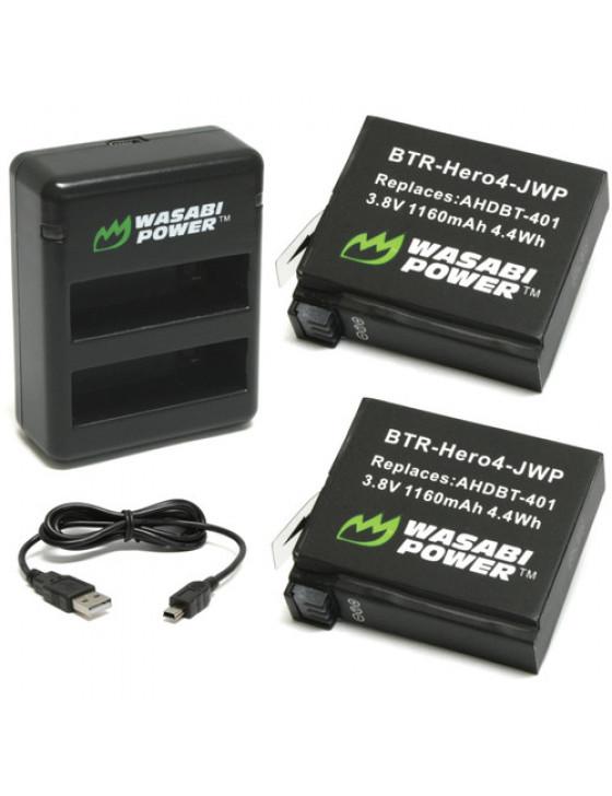 GoPro Hero 4 battery kit