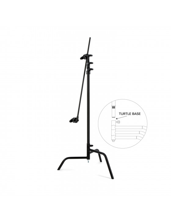 Matthews C-Stand with arm - black - turtle base