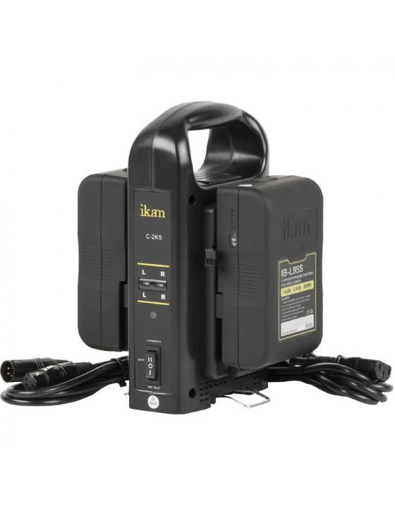 Premium Dual V-Mount Battery Kit - Ikan