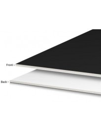 "Foamcore - Black & White - 4' x 8' x 3/16"""