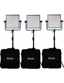 Dracast Bi-Color LED1000 Pro - 3 light kit