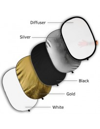 Collapsible 5-in-1 Reflector (24x36)