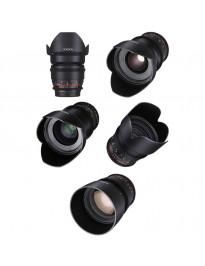 Rokinon Cinema Prime 5 lens kit (Canon mount)